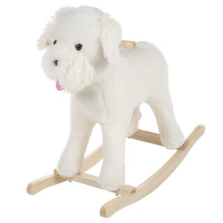 Happy Trails Plush Shaggy The Schnoodle Dog Rocking Animal