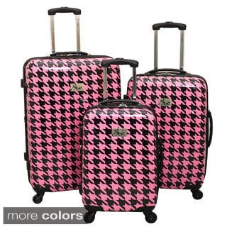 Chariot Houndstooth 3-Piece Hardside Lightweight Expandable ...