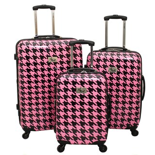Chariot Houndstooth 3-Piece Hardside Lightweight Expandable Upright Spinner Luggage Set