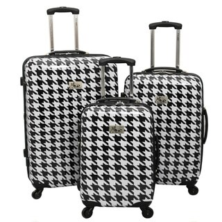 One Size Chariot Monet 3-piece Hardside Expandable Lightweight Spinner Luggage Set-Navy