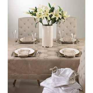 Drawnwork Damask Napkins - (Set of 4)