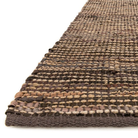 Hand-woven Arrow Earth-tone Leather and Jute Rug (7'9 x 9'9)