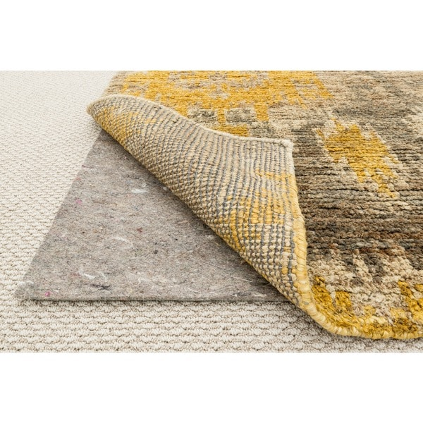 Rooster Tapestry Non Skid Rug: All-surface Non-slip Felted Grey Rug Pad (9' X 12')