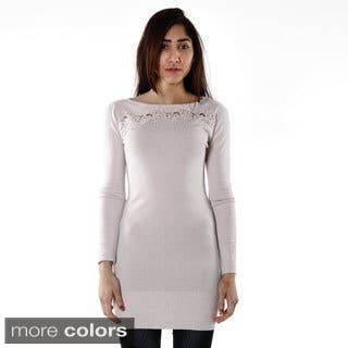 Hadari Women's Contemporary Crochet Embelished Tunic|https://ak1.ostkcdn.com/images/products/9721156/P16895719.jpg?impolicy=medium