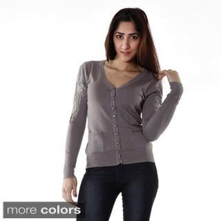 Hadari Women's Contemporary Dress-Up Casual Cardigan