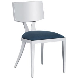 Sunpan Ikon Maiden White Stainless Steel Dining Chair