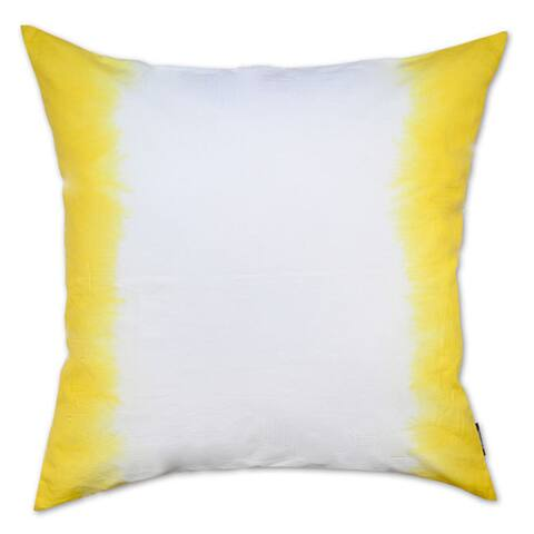 Yellow Ombre Cotton Throw Pillow