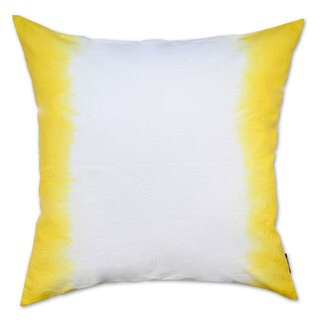 Yellow Ombre Cotton Throw Pillow