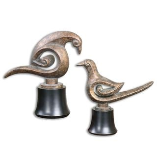 Uttermost Aram Rust Bird Sculptures (Set of 2)