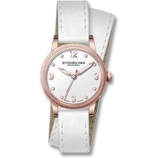 Stuhrling Original Women's Vogue Swiss Quartz Leather Strap Watch