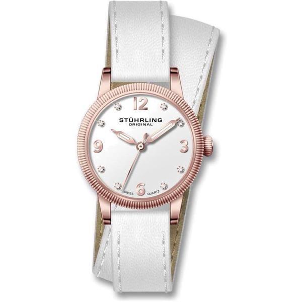 Stuhrling Original Women's Vogue Swiss Quartz Leather Strap Watch