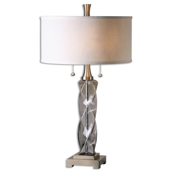 Uttermost Spirano 2-light Smoke Grey Table Lamp