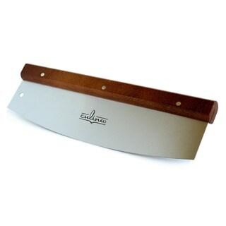 Stainless Steel/ Walnut 14-inch Pizza Cutter