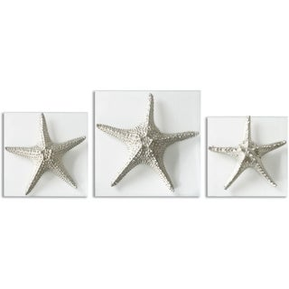 Uttermost Silver Starfish Wall Art (Set of 3)