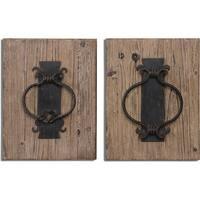 Uttermost Rustic Door Knockers Wall Art (Set of 2)