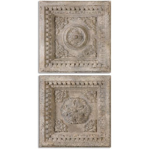 Uttermost Auronzo Aged Ivory Squares (Set of 2)