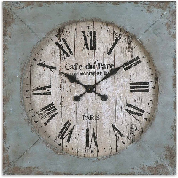 Shop Uttermost 29 Inch Paron Wall Clock Free Shipping