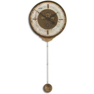 Uttermost Leonardo Script Cream Wall Clock