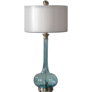 Uttermost Junelle 1-light Blue Glass Table Lamp