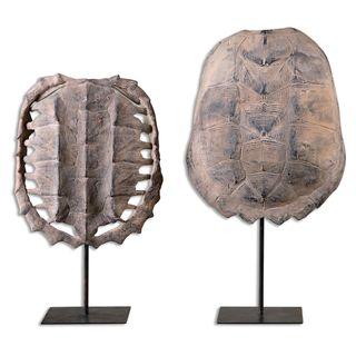 Uttermost Tan Turtle Shells (Set of 2)