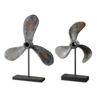 Uttermost Propeller Rust Sculptures (Set of 2)