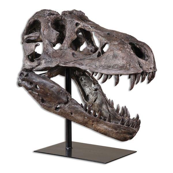 Uttermost Tyrannosaurus Rex Skull Sculpture
