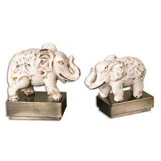 Uttermost Maven Elephant Sculptures (Set of 2)