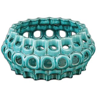 Uttermost Idola Teal Ceramic Bowl