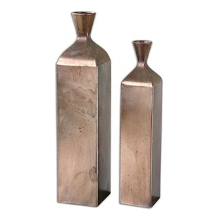 Uttermost Fizza Champagane Metal Vases (Set of 2)