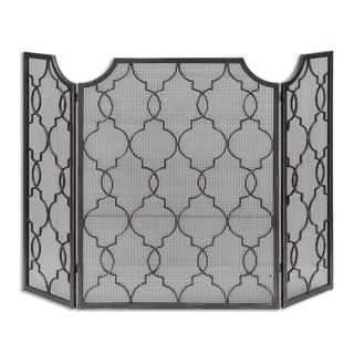 Uttermost Charlie Silver Fireplace Screen