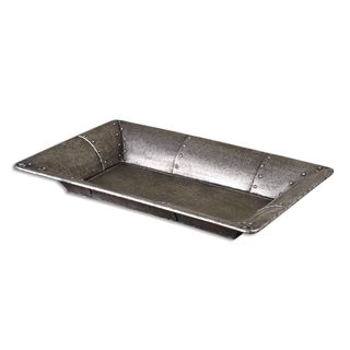 Uttermost Arya Silver Studded Metal Tray