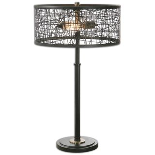 Uttermost Alita 2-light Black Table Lamp