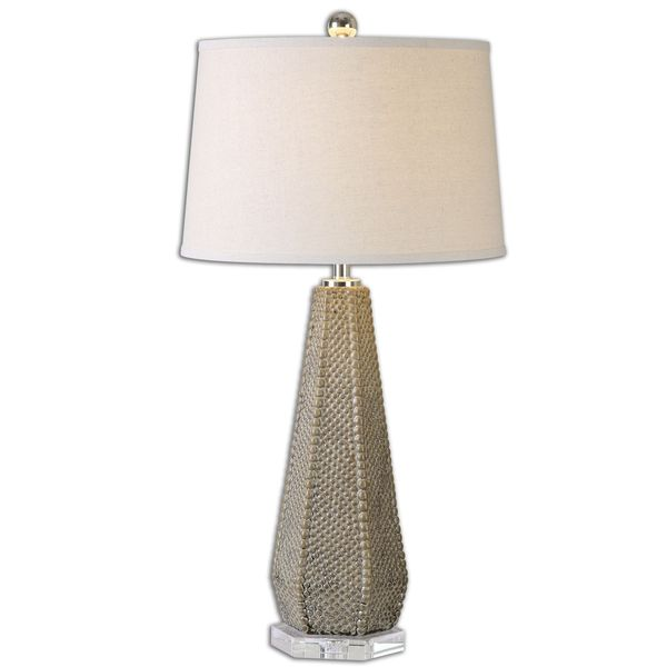 Uttermost Pontius 1-Light Olive Taupe Table Lamp