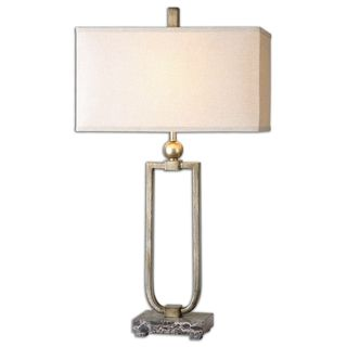 Uttermost Osmund 1-Light Antique Burnished Silver Table Lamp