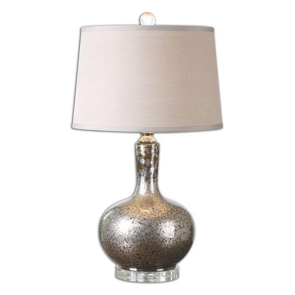 Uttermost Aemilius 1-Light Grey Glass Table Lamp
