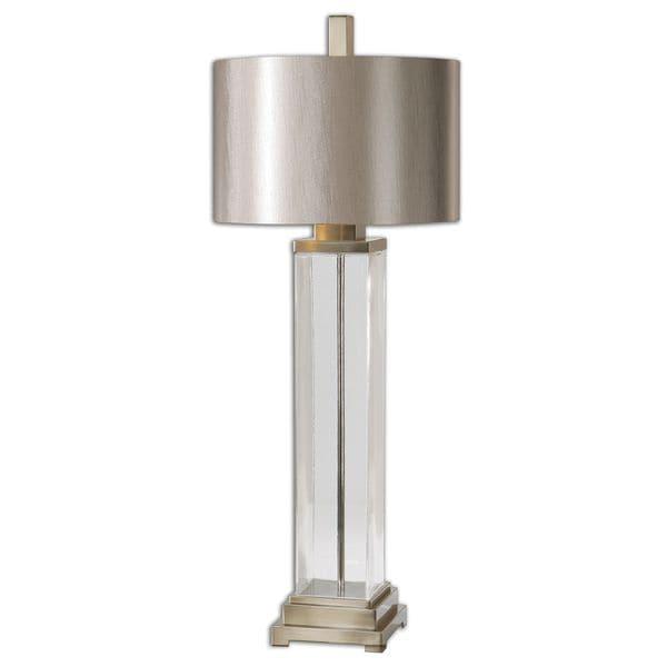Uttermost Drustan 1-Light Clear Glass Table Lamp
