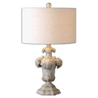 Uttermost Cassano 1-light Ivory Ceramic Table Lamp