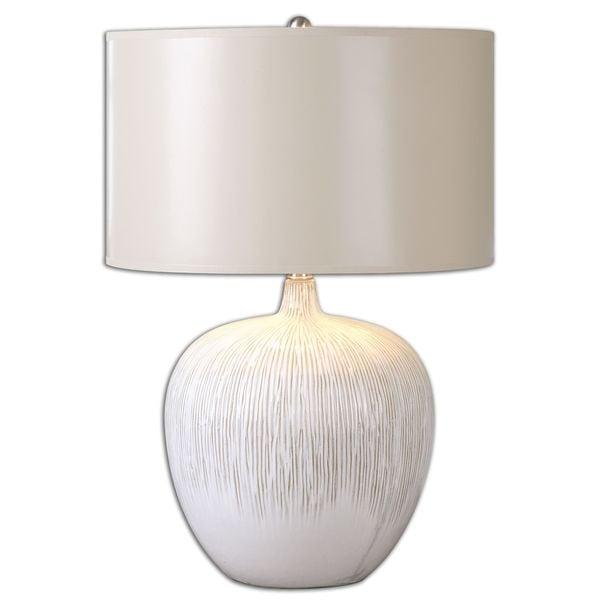 Uttermost Georgios 1-light Ivory Table Lamp