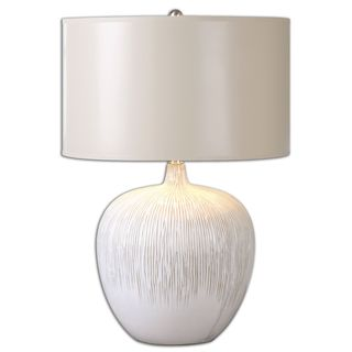 Uttermost Georgios 1-light Ivory Table Lamp