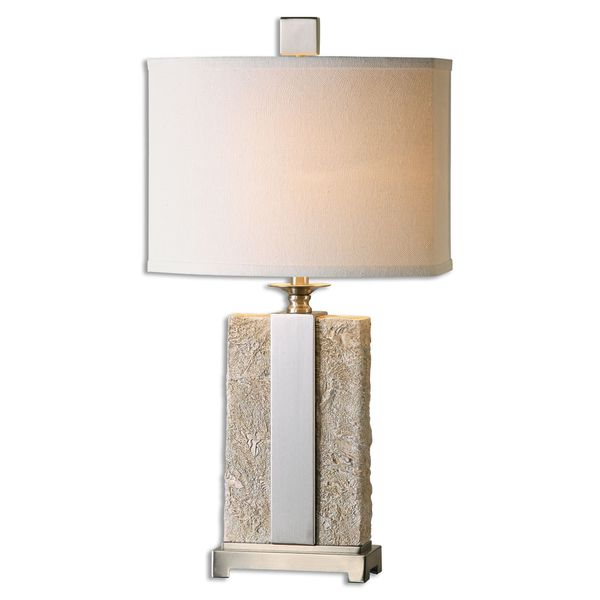 Uttermost Bonea 1-light Stone Ivory Table Lamp