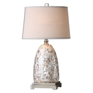 Uttermost Capurso 1-light Shell Table Lamp