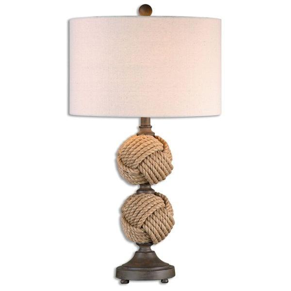 Uttermost Higgins 1-light Woven Rope Table Lamp