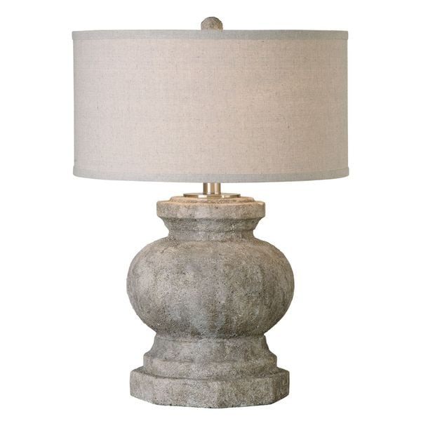 Uttermost Verdello 1-light Stone Ivory Table Lamp