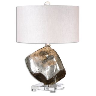 Uttermost Everly 1-light Crystal Foot Table Lamp