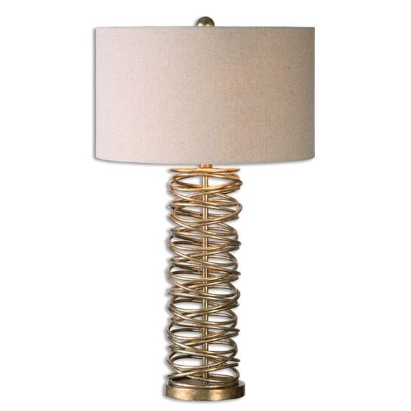 Uttermost Amarey 1-light Antique Silver Champagne Table Lamp