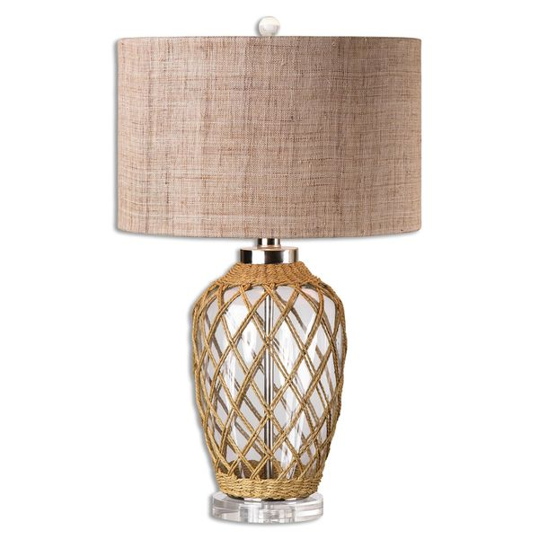 Uttermost Foiano 1-light Glass and Rope Table Lamp
