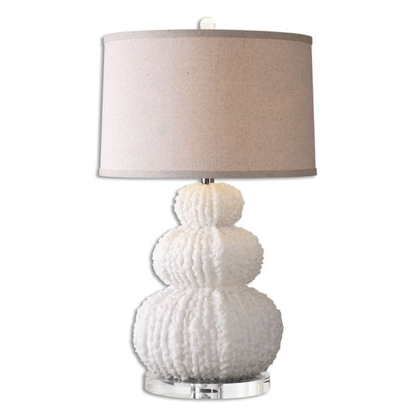 Uttermost Fontanne 1-light Textured Shell Ivory Table Lamp