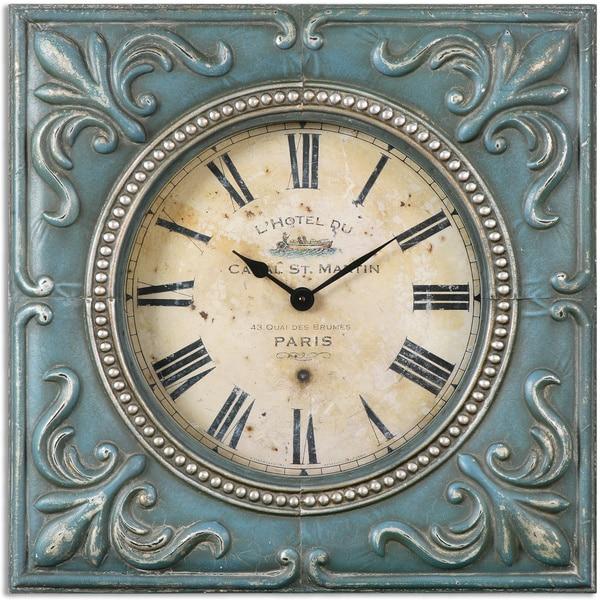 Home Goods Clocks: Shop Uttermost Canal St. Martin Aged Wall Clock