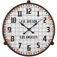 Uttermost Max Aged Ivory Wall Clock