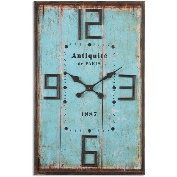 Uttermost Antiquite Blue Wall Clock